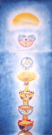 אחד מציורי הצ'קרות שציירתי, המופיע בספרה של נועה